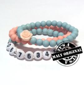 Zelfmaakpakket: prachtige sos armband, bloem armband  en uni armbandenset (3 armbanden)  Kies zelf je kleuren