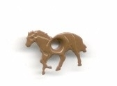 Eyelet paard bruin
