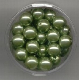 parel-kralen lime-groen 8 mm. - Make Me * 117472/3170