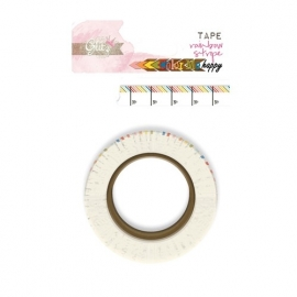 Washi tape Color me Happy Rainbow Stripe - Glitz Design * WT 366