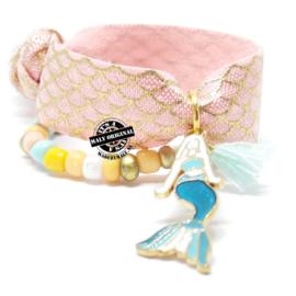 Kinderarmband - haarelastiek zeemeermin(elastisch)