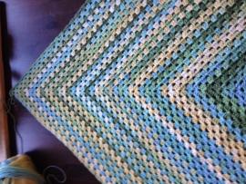 Omslagdoek, gehaakt door Silvia met Ice yarn