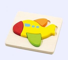 Houten puzzel vliegtuig - Vigatoys * V0173
