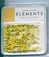 Minibrads geel - American Crafts * AC8478