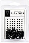 3/16 eyelets zwart ong. 50 stuks - American Crafts * 85476