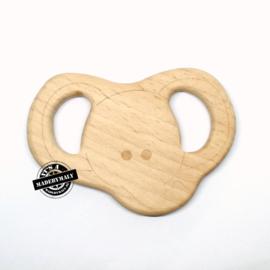 Houten bijtring hout  olifant * 8,7x6 cm.