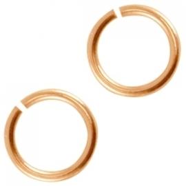 DQ metalen buigring 4.5mm Rosé goud (nikkelvrij)