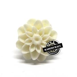 Dahlia bloem kraal 13mm creme