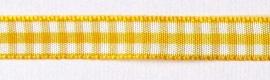 1 meter geruite band geel-wit