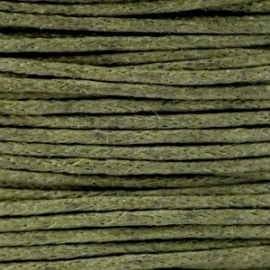 Waxkoord Army green 1 mm. dik, per meter