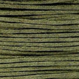 Waxkoord Army green 1 mm. dik, per meter
