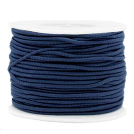 Koord elastiek 2 mm. donkerblauw, per meter - elastisch koord