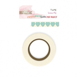 Washi tape Love you madly hearts - Glitz Design * WT 397