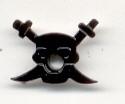 Eyelet piraat zwart