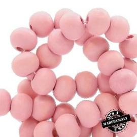 Houten kraal 6 mm rond Light Ballet Pink roze