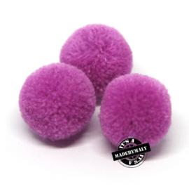 pompom violet * 20 mm - per 10 stuks