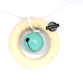 Gesloten belletje 13 mm. groen - per stuk