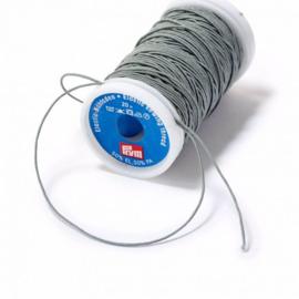 elastisch garen grijs 0,5 mm. dik, klosje van 20 meter - elastiek