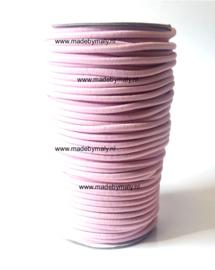 Koord elastiek 3 mm. lichtroze, per meter - elastisch koord