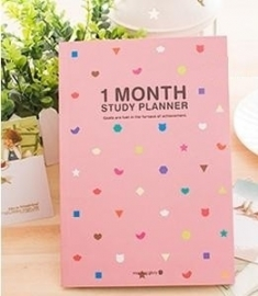 1 maand Studie planner roze