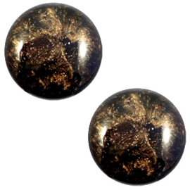 12 mm classic Polaris Elements Stardust cabochon Dark brown