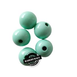 Houten kraal 15 mm rond mint