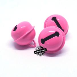 Gesloten belletje 22 mm. roze  - per stuk