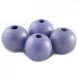 Houten kraal 12 mm Zacht Lavendel Paars