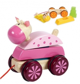 Trek- en stapelfiguur pony rose - Santoys * F5692B
