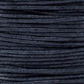 Waxkoord donker marine blauw 1 mm. dik, per meter