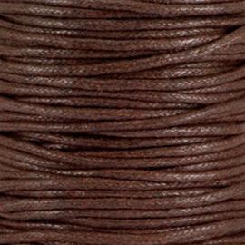 Waxkoord chocolade bruin 1,5 mm. dik, per meter