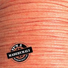 Waxkoord zacht oranje 1,5 mm. dik, per meter