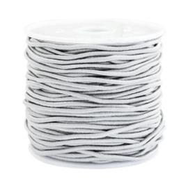 Koord elastiek 1,5 mm. licht grijs, per meter - elastisch koord