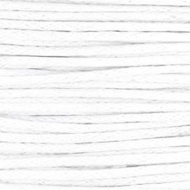 Waxkoord white 1,5 mm. dik, per meter