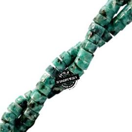 natuursteen disc kralen turquoise groen 4mm