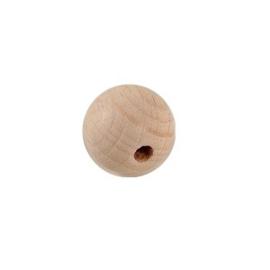 Houten kraal 15 mm. groot beukenhout, blank