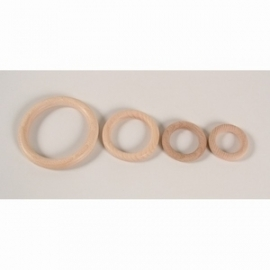 Houten ring houten bijtring, beukenhout * 3,5 cm.