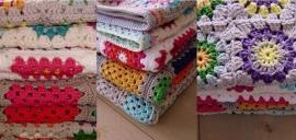 Gehaakte dekens, gemaakt door Ellen Mous