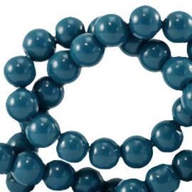 Glaskraal 6 mm opaque petrol blauw