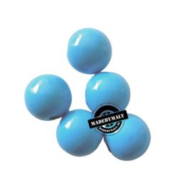 Houten kraal 15 mm rond blauw