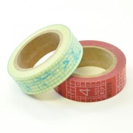Wayfarer paper tape (2 rollen tape) - Bazzill Basics * 304135