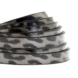 Imi leer 5mm plat leer luipaard grijs