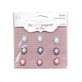 Kitch cameo flowers - The Girls Paperie
