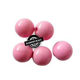 Houten kraal 15 mm rond roze