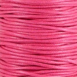 Waxkoord hot pink 2 mm. dik, per meter