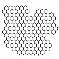 "6x6 "" Mask template Chickenwire reversed - The Crafters Workshop * TCW259s"