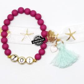 Zelfmaakset: naam armband  en zeemeermin armband  (2 armbanden)  Kies zelf je kleuren