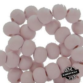 Houten kraal 12 mm licht roze