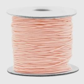 Koord elastiek 0,8 mm. perzik, per meter - elastisch koord
