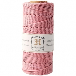 Hemp cord (hennep) pink 1,5 mm. dik - Hemptique * 33330
